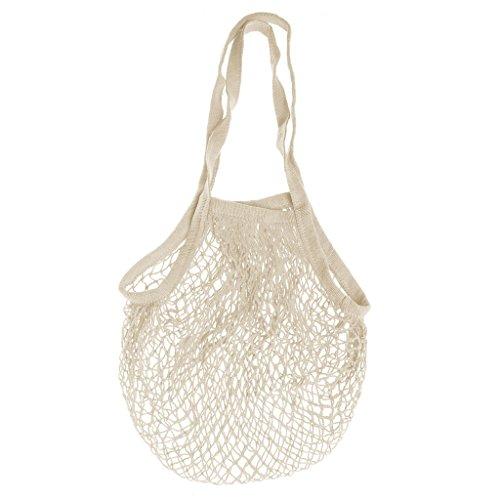 Reusable Mesh Net Turtle Bag String Shopping Bag Fruit Storage Handbag Beach Toy Storage Bag (beige)