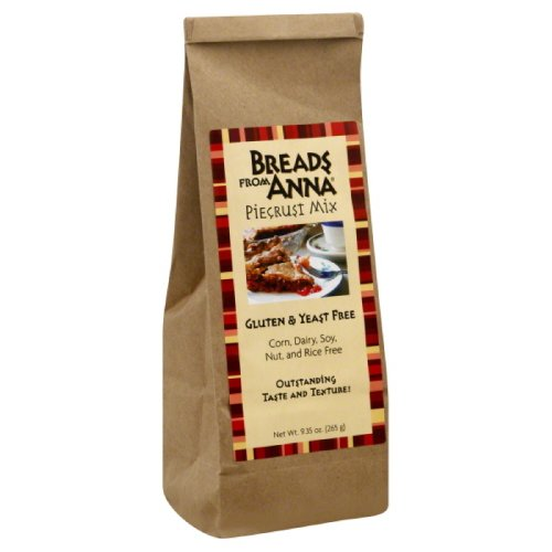 Breads from Anna, Pie Crust Mix, gluten and yeast free,  9.35-Ounce by Breads From Anna