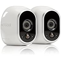 Arlo Security System by NETGEAR - 2 Wire-Free HD Cameras, Indoor/Outdoor, Night Vision (VMS3230C) with Outdoor Mount (VMA1000)  - New Version