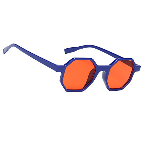 rojo Deporte para Regalo Homyl Mujer UV400 Aviador Sol de Hombre Vintaje Lentes de Azul Pesca Diagonal Conducción Protección de Viaje Gafa aawH1