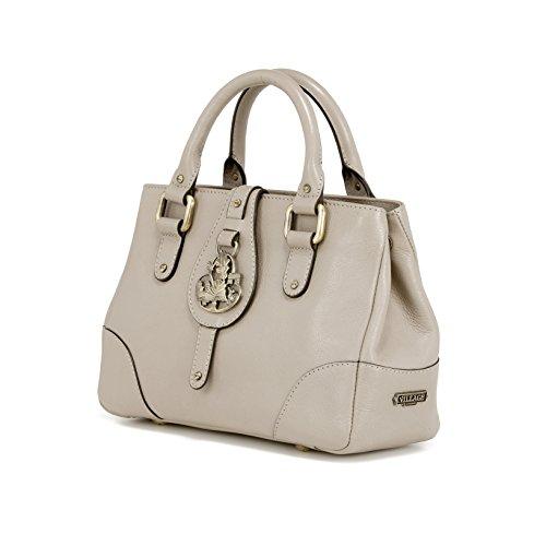 Village England - Bolso mochila  de Piel para mujer gris marrón