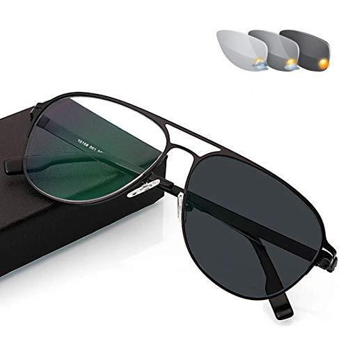 Progressive Multi-Focus Reading Glasses,Far and Near Dual-use Discoloration Zoom Ultralight Reading Glasses,Anti-Blue Light Anti-Radiation Resin Lenses,Unisex,250