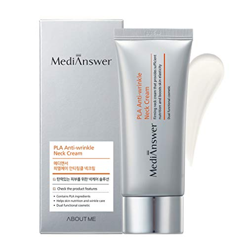 - ABOUT ME MediAnswer PLA Anti-Wrinkle Neck Cream 2.03 fl.oz. (60ml) - Collagen & Peptides for Firming & Combating Wrinkles on Neck, Decolletage, Tighter Neckline with Thread Lifting Ingredients PLA