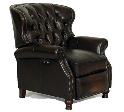 Presidental II Leather Wing Power Electric Recliner Chair by Barcalounger