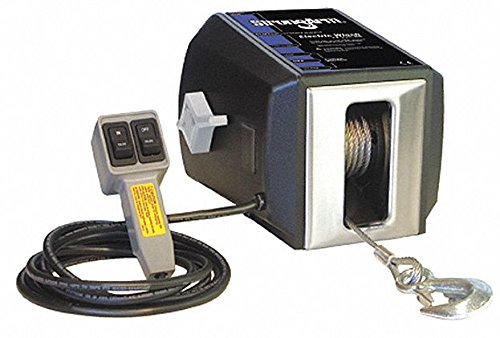 115VAC Pulling Electric Winch with 3.5 fpm and 2700 lb. 1st Layer Load Capacity