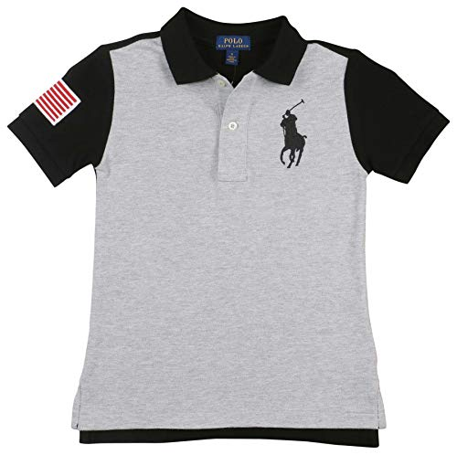 - Polo RL Big Boy's (3-7) Pony 3 Polo Shirt-Grey/Black-6
