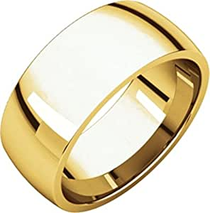 8mm Light Comfort Fit Band in 10k Yellow Gold - Size 11.5
