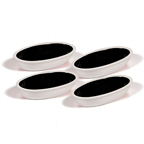 Ovenex 24 oz. Oval Ceramic Serving & Baking Dish Set – 4 Pack (Starlite White)