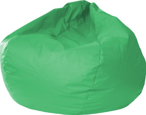 Gold Medal Bean Bags Leather Look Vinyl Bean Bag, Medium/Tween, Green