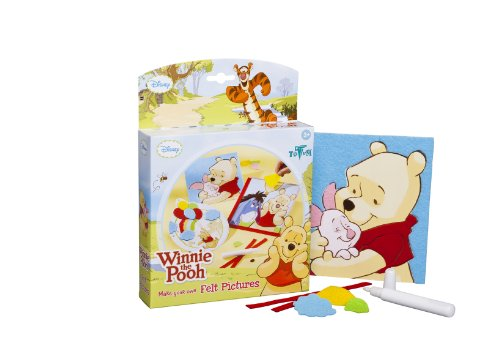 Totum Winnie The Pooh Make Your Own Felt Cards Kit