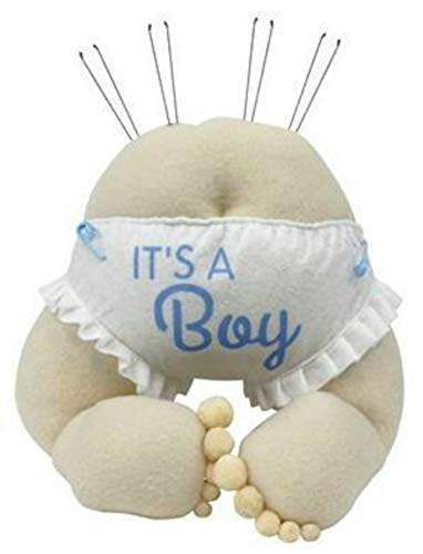 Expressions Baby Bottom Wreath Accent Enhancement Plush Baby Bottom (Blue/Boy)