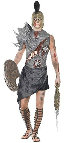 Mens Zombie Roman Gladiator Halloween Ancient Warrior Soldier Fighter Fancy Dress Costume Outfit (Large)