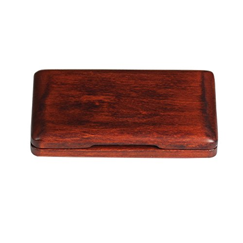 ammoon Solid Wood Reed Case Wooden Holder Box for Tenor/ Alto/ Soprano Saxophone Clarinet Reeds, 2pcs Capacity