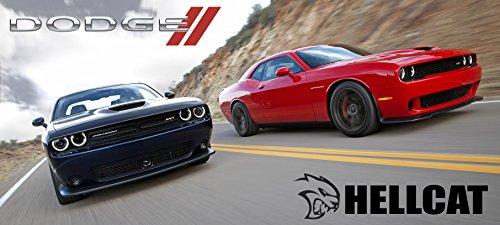 2016 Dodge Challenger Hellcat Poster Red Black Srt Mopar Large Charger Muscle Car Viper