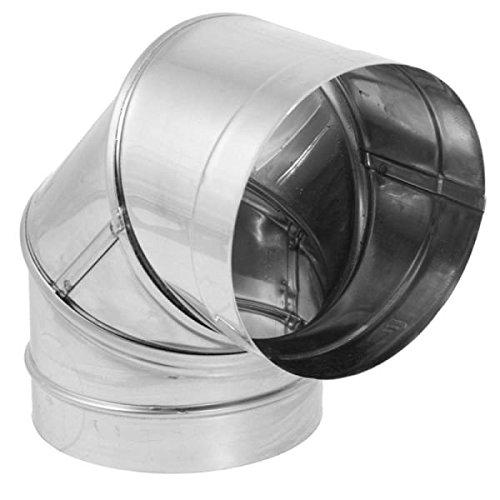 8'' DuraBlack Stainless Steel 90 Deg. ()