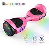 TOMOLOO Hoverboards with Bluetooth Speakers and Led Lights, Two Wheels Electric Self Balancing Hover Board for Kids & Adults- UL2272 Certified (Q2C-Pink) …