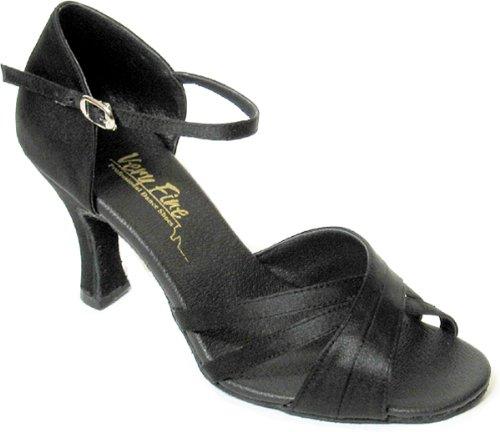 Molto Elegante Per Donna Ballroom Tango Latino Scarpe Da Ballo Stile 6030 Bundle Con Protezioni Tallone In Plastica Per Scarpe Da Ballo, Nero