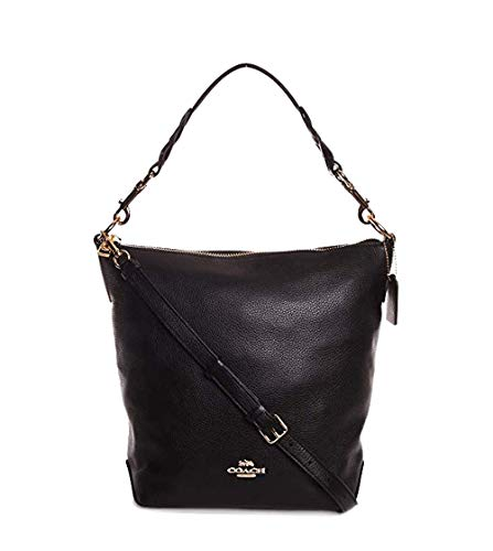 Coach Women's Leather Abby Duffle Shoulder Bag No Size (Im/Black) (Coach Duffle Shoulder Bag In Glovetanned Leather)