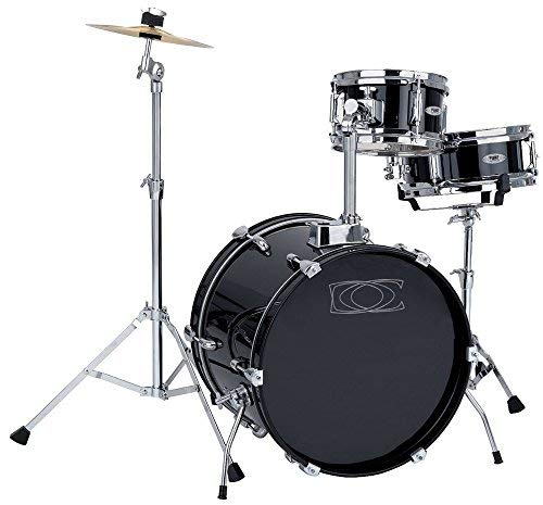 Drumset Junior black wrapped, 16x11