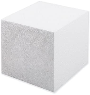 Smoothfoam Cube Crafts Foam for Modeling, 5-Inch, White