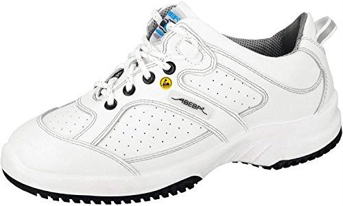 """Abeba dimensione 99,06 cm (39"""") 36730-39-15,24 cm (6"""") ESD-Scarpe da lavoro bassa, colore: bianco"""