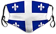 WiNjTyMOYO Washable and Reusable Face Mouth Mask Flag Quebec in Canada Polyester Covers