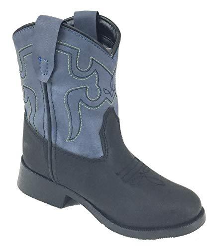 Smoky Mountain Childrens Monterey Western Cowboy Boots Black/Blue
