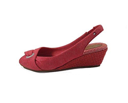 Tommy Hilfiger CASSIE 5 B - Sandalias fashion de tela mujer Rojo