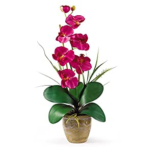 Nearly Natural Single Stem Phalaenopsis Orchid Silk Flower 74