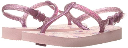 Images of Havaianas Kids' Flip Flop Sandals, Freedom SL Print Pearl Pink , (Toddler/Little Kid)