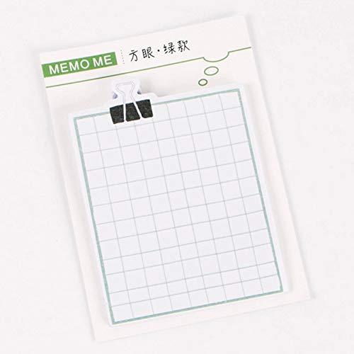 Memo Pad 30 Pages/pack Square Grid Note Daily Agenda Planner Accessories Tool Index Sticky Memos Message Notes Scratch Pad