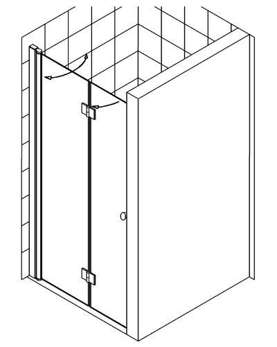 falttur dusche nische duschabtrennung dusche duschkabine. Black Bedroom Furniture Sets. Home Design Ideas