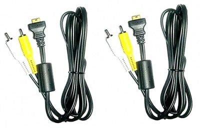 2 GENUINE Casio EMC-3A EMC3A AV Audio Video Cables for Casio EX-S770RD, Casio EX-S770SR S880