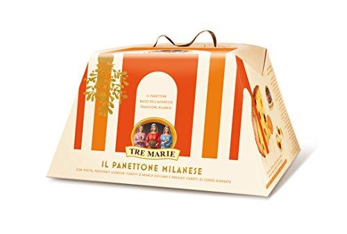 Tre Marie Il Panettone Milanese 750 g (1 lb 10.5 oz) Traditional Italian Christmas Cake (Italian Cake Christmas)