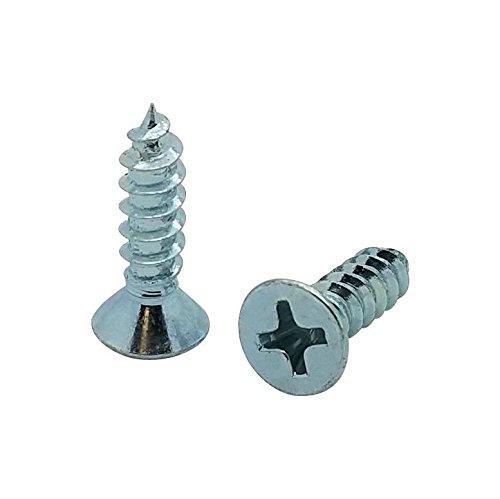 BCP Fasteners 100 Qty #10 x 5//8 Flat Head Zinc Coated Phillips Head Wood Screws BCP12