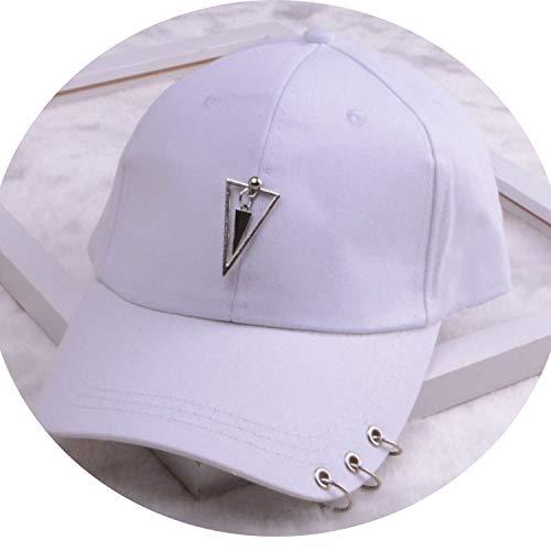 女性 リング野球帽 男性女性 白黒 野球の帽子,三角白