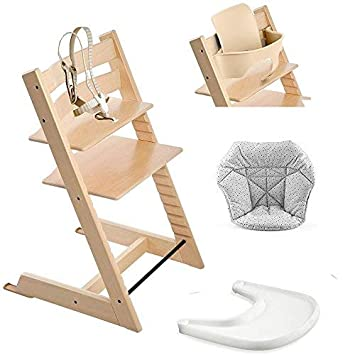 Amazon Com Stokke Tripp Trapp High Chair Baby Set Natural
