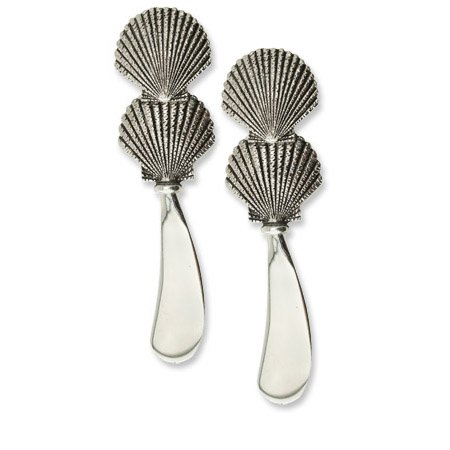 (Wine Things 00736 Sea Shell Cheese Spreader, 4 1/2