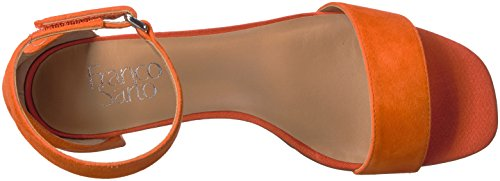 Franco Sarto Women's Rosalina Heeled Sandal, Platino Tangerine
