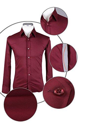 Mariage D'affaires Homme Chemise Loisirs Café Manches Jueshanzj shirt Longues À Tee UT8A7wq