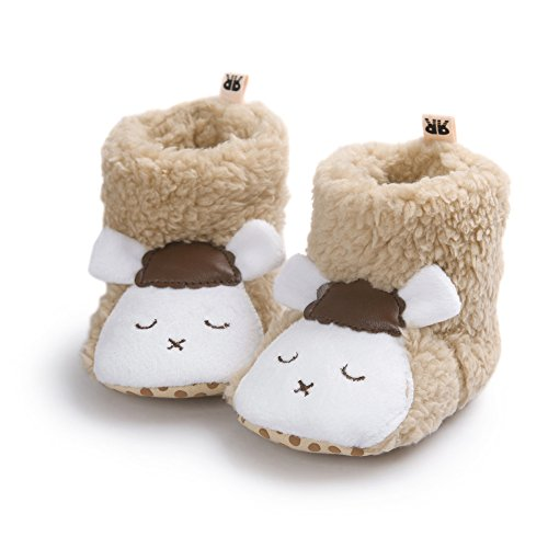 Fire Frog Cartoon Winter Boots - Patucos para niño Brown Sheep