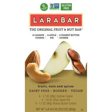 LARABAR Fruit and Nut Bars, Variety Pack (pack of 6)
