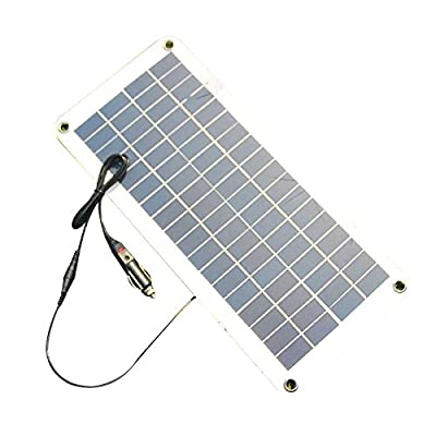TOOGOO(R) Semi-flexible 18V/5V 10.5W Portable Solar Panel Charger For 12V Car Boat Motor Battery Charger DIY Solar System NEW