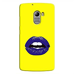 Cover it up Purple Lips Lenovo K4 Note Hard Case - Yellow