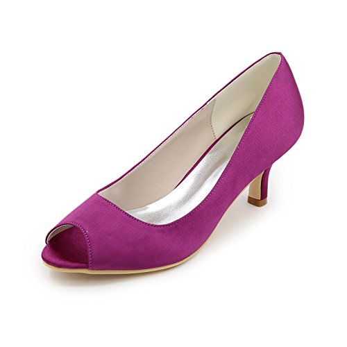 Evening Available Colors L Women's amp; Sandals Wedding Purple More Silk Heel Toe Peep YC Low Party Shoes TRwZnTHq7