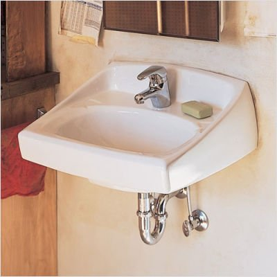 American Standard 0356.037.020 Lucerne 8-Inch Faucet Spread Wall-Hung Lavatory with Extra Right Hand Hole, - American Lucerne Wall Standard