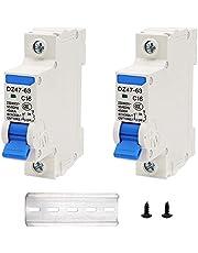 weideer 6A,10A,16A,20A,25A,32A,40A,50A,63A(Can Choose)Miniature Circuit Breaker 230V/400V 1P/2P with DIN Rail Mount