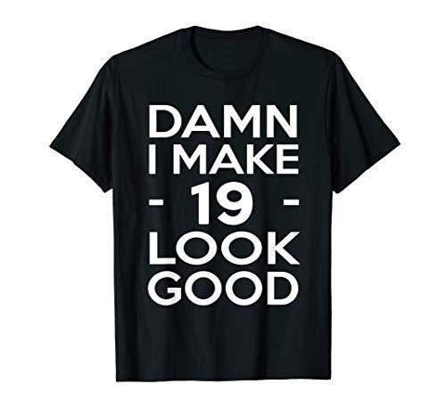 19th Birthday Gift Ideas for Him Men Women Shirt (Birthday Gift Ideas For 19 Year Old Daughter)