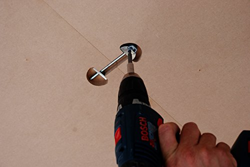 "Zipbolt UT 10.900 6mm x 100mm (0.24"" x 3.94"") Draw Bolt Joint Connector - 10 Pack – Connects Countertops, Tabletops, Panels, Furniture in Seconds – Includes 4mm Hex Bit with Quick Release Shank"