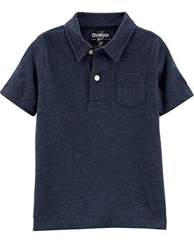 Osh Kosh Boys' Toddler Short-Sleeve Polo Shirt, Deep Navy, 3T